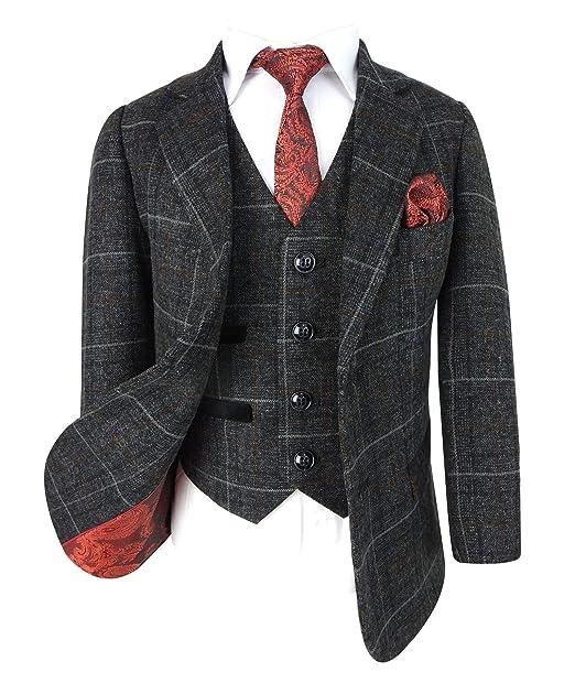 SIRRI Diseñador Clásico Retro Cheque Tweed Trajes para ...