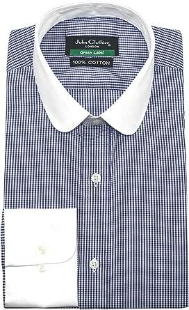 Paliducho Anteojeras Camisa para Hombre Cuello Penny Azul ...
