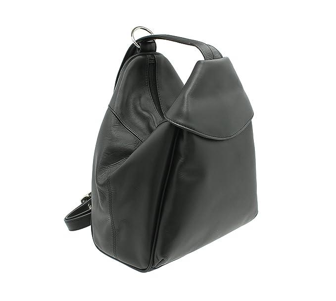 091ed04218af Visconti Leather Backpack Style 01721 Black  Amazon.co.uk  Luggage