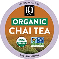 Organic Chai Tea K-Cup Pods | 24 Pods | Keurig Compatible | by FGO