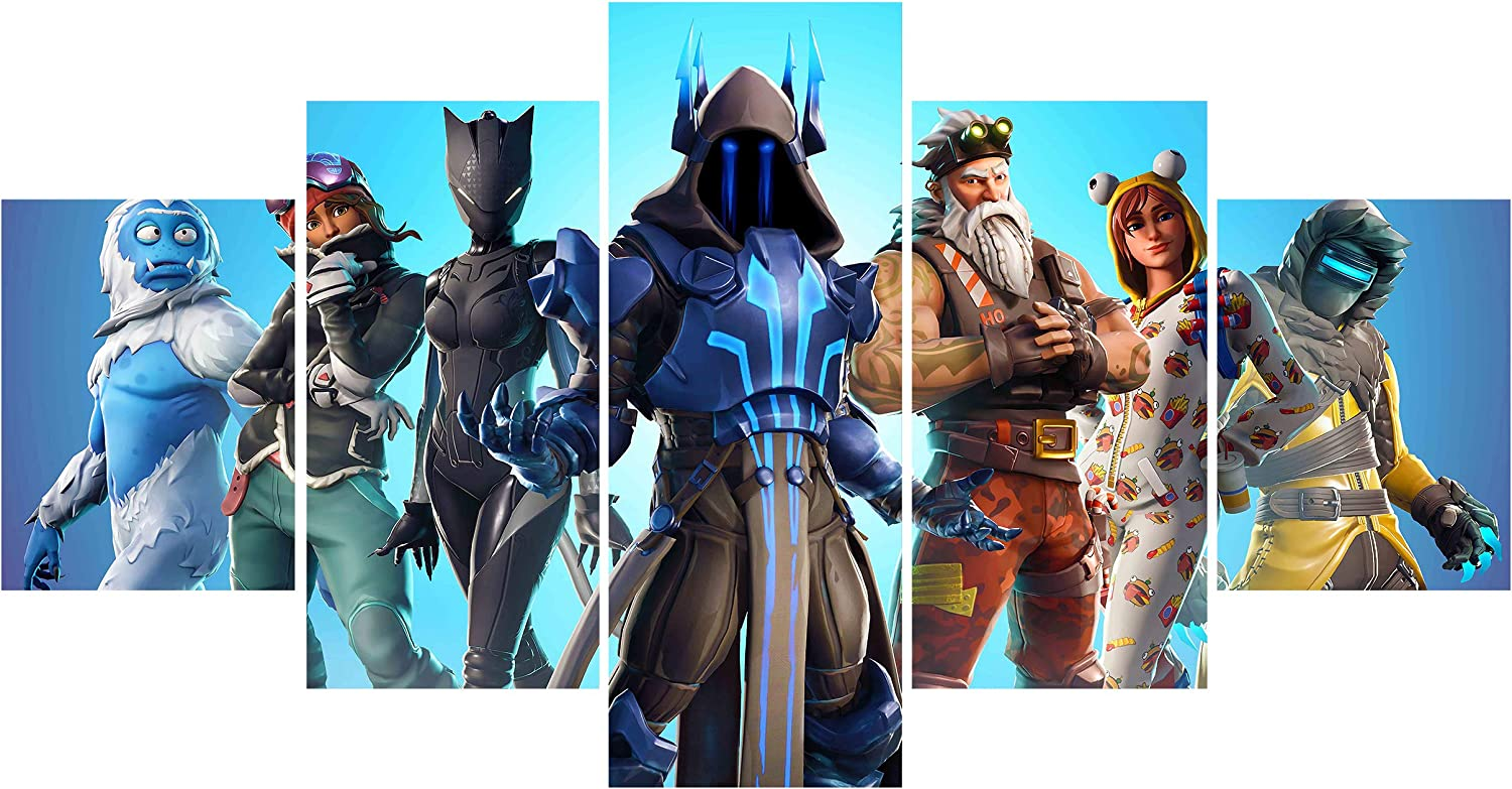 Jackethings 5 Piece Game Heroes Cool Team Creative Wall Painting Unframed for Home Canvas Art Decor