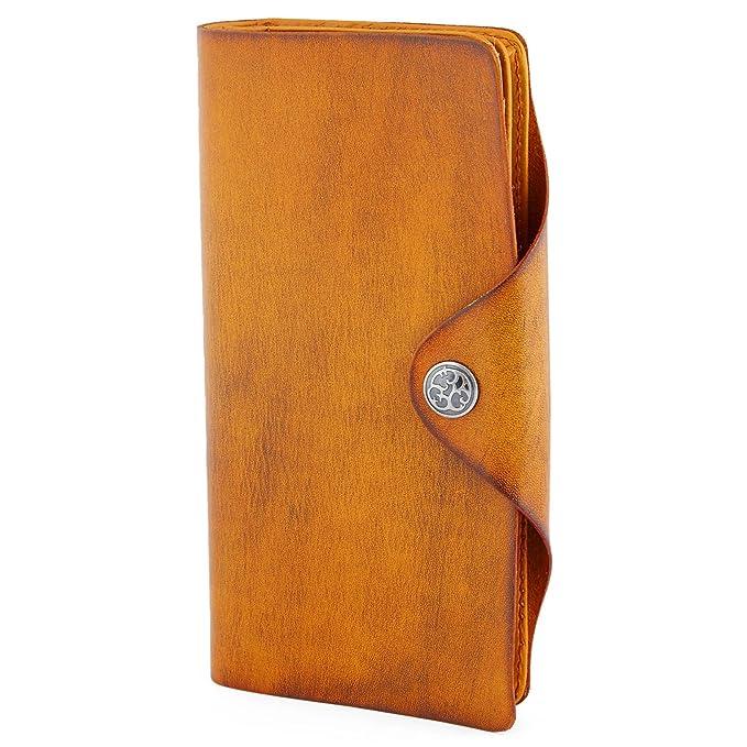 Cartera de piel alargada Clovis marrón tostado: Amazon.es: Ropa y accesorios