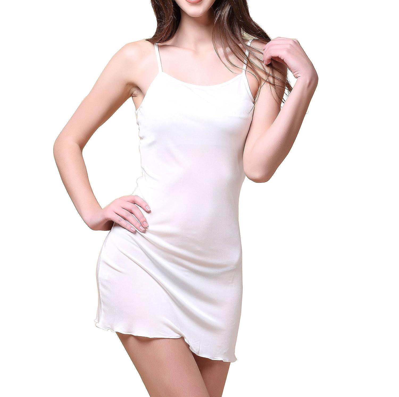 Paradise Silk Pure Silk Knitted Chemise Full Slips Sleepwear SKCH5301