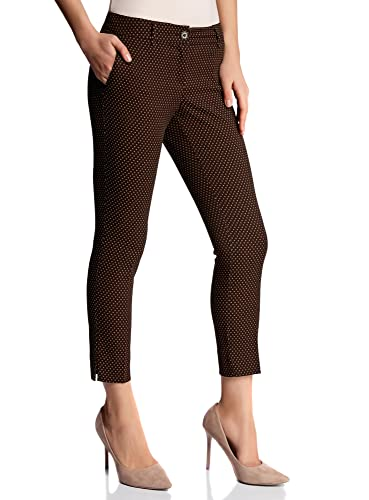 oodji Collection Mujer Pantalones Recortados con Pinzas