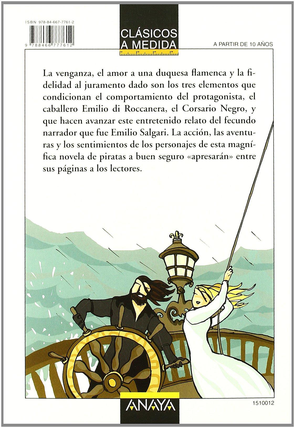 El Corsario Negro Clásicos Clásicos A Medida Spanish Edition 9788466777612 Recio Mir Ana Salgari Emilio Maier Ximena Books