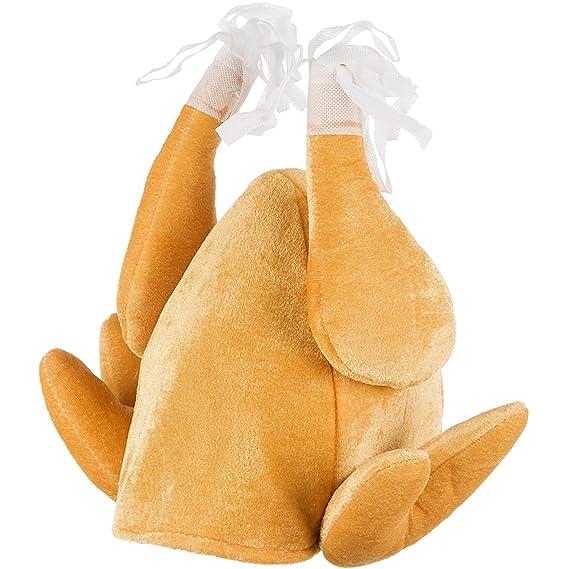 Gorro con forma de Pavo asado - Gorro de pavo asado para halloween y carnaval.
