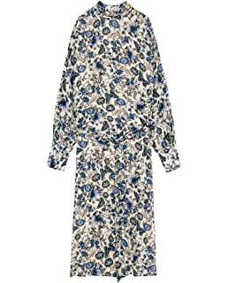 Zara Femme Robe A Imprima C Animalier 1639 184 Amazon Fr Vetements