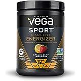 Vega Sport Sugar Free Energizer, Strawberry Lemonade - Vegan Certified, Keto-Friendly, Gluten Free, Dairy Free, Soy Free, Non