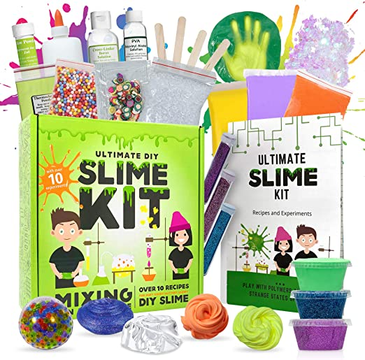 Amazon.com: Baby Mushroom Ultimate Slime Kit - 10 Slimy Science Experiments   Fun and Educational Made in USA!: Toys & Games