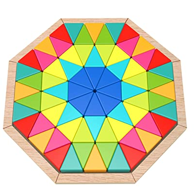 Fat Brain Toys Play Pattern Puzzle - Octagon Wooden Toys for Ages 3 to 5: Toys & Games