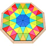 Fat Brain Toys Play Pattern Puzzle - Octagon Wooden Toys for Ages 3 to 5