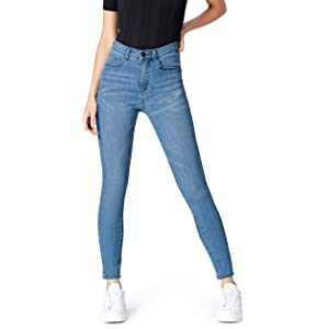 Vibrant Womens Juniors Classic High Waist Denim Skinny Jeans ...