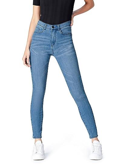 ee94842f3bf38 Jean Skinny Taille Haute Femme: Amazon.fr: Vêtements et accessoires