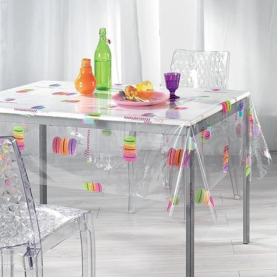 kamaca toile cire avec motif de macarons transparentmulticolore 2 - Toile Ciree Pour Table De Jardin