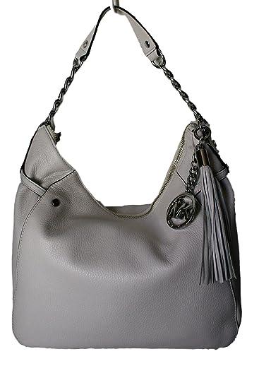 138784acc207 Amazon.com  Michael Kors Megan Vanilla Pebbled Leather Convertible Shoulder  Hobo Crossbody Handbag  Shoes