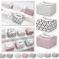 30x cajas de regalo multicolor con texto–Sweets –