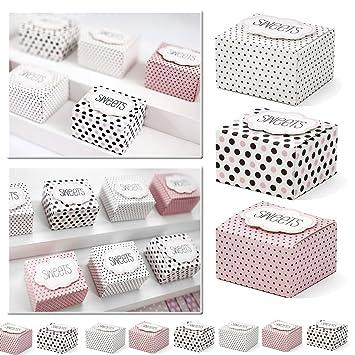 30 x cajas de regalo multicolor con texto - Sweets - como regalo para invitados o regalo ocasional -Kleenes Traumhandel®: Amazon.es: Juguetes y juegos