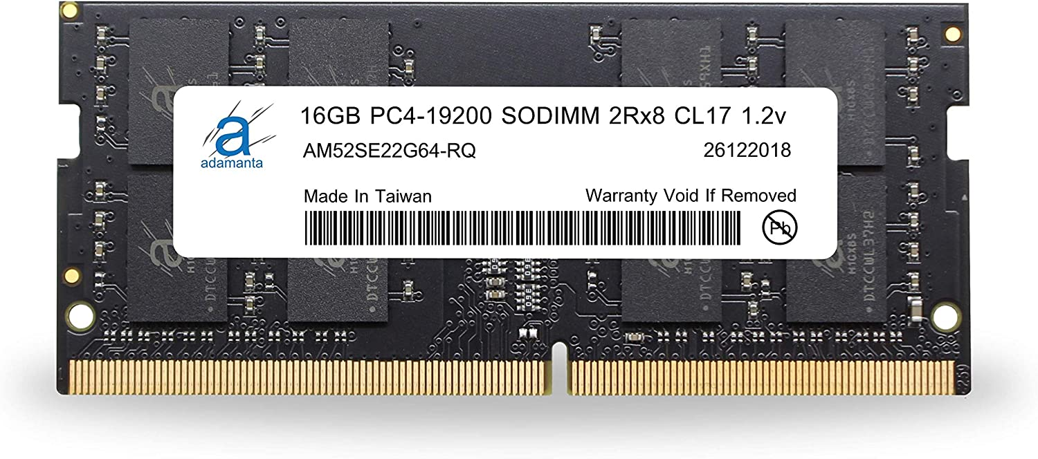 Adamanta 16GB (1x16GB) Laptop Memory/RAM Upgrade Compatible for Dell Alienware, Inspiron, Latitude, Optiplex, Precision, Vostro, XPS DDR4 2400Mhz PC4-19200 SODIMM 2Rx8 CL17 1.2v DRAM P/N SNP821PJC/16G