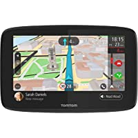 TomTom Car Sat Nav GO 520, 5 Inch with Handsfree Calling, Siri, Google Now, Updates via WiFi, real-time traffic updates via Smartphone, World Maps, Smartphone Messages, Capacitive Screen