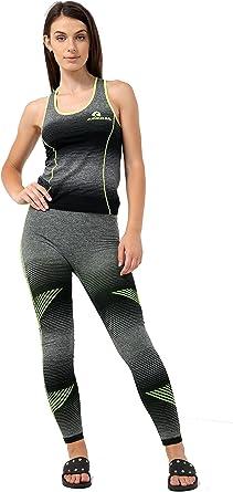 Vr7 Ladies Womens 2 Pcs Gym Sports Leggings Crop Top Fitness Yoga Pants Set Uk 6 18 Amazon Co Uk Clothing