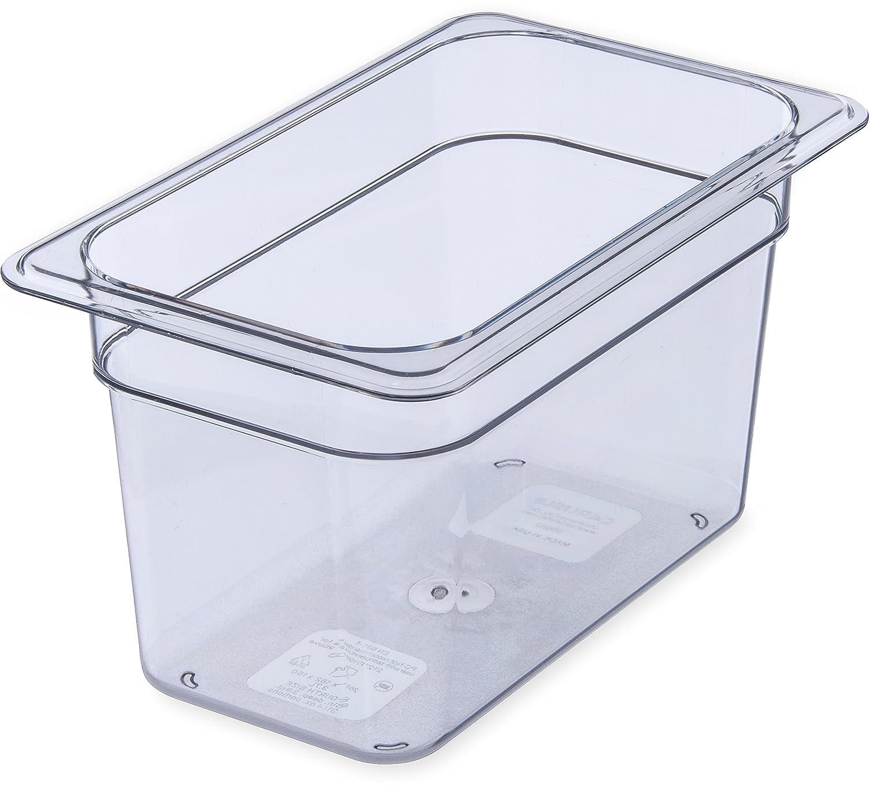 Carlisle 3068207 StorPlus Fourth Size Food Pan, Polycarbonate, 6 Deep, Clear 6 Deep 3068207-E