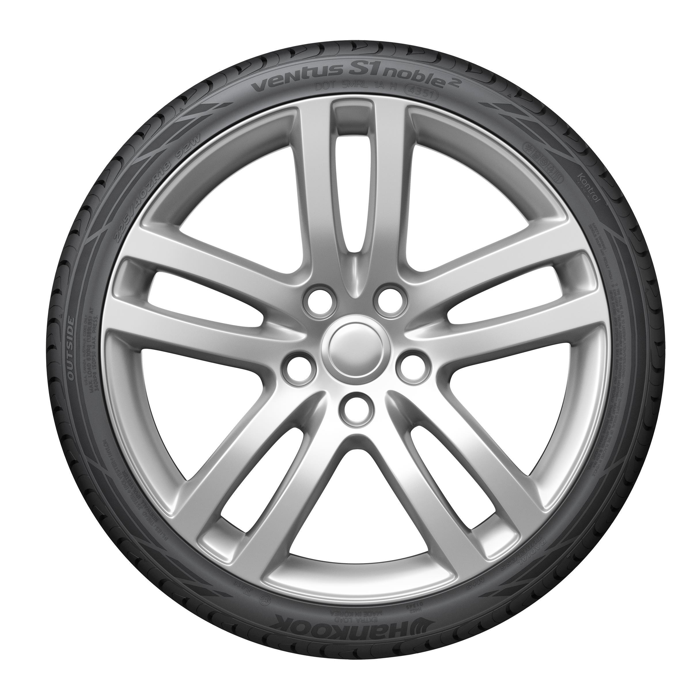 Hankook Ventus S1 Noble2 Performance Radial Tire - 225/40R18 92W by Hankook (Image #1)