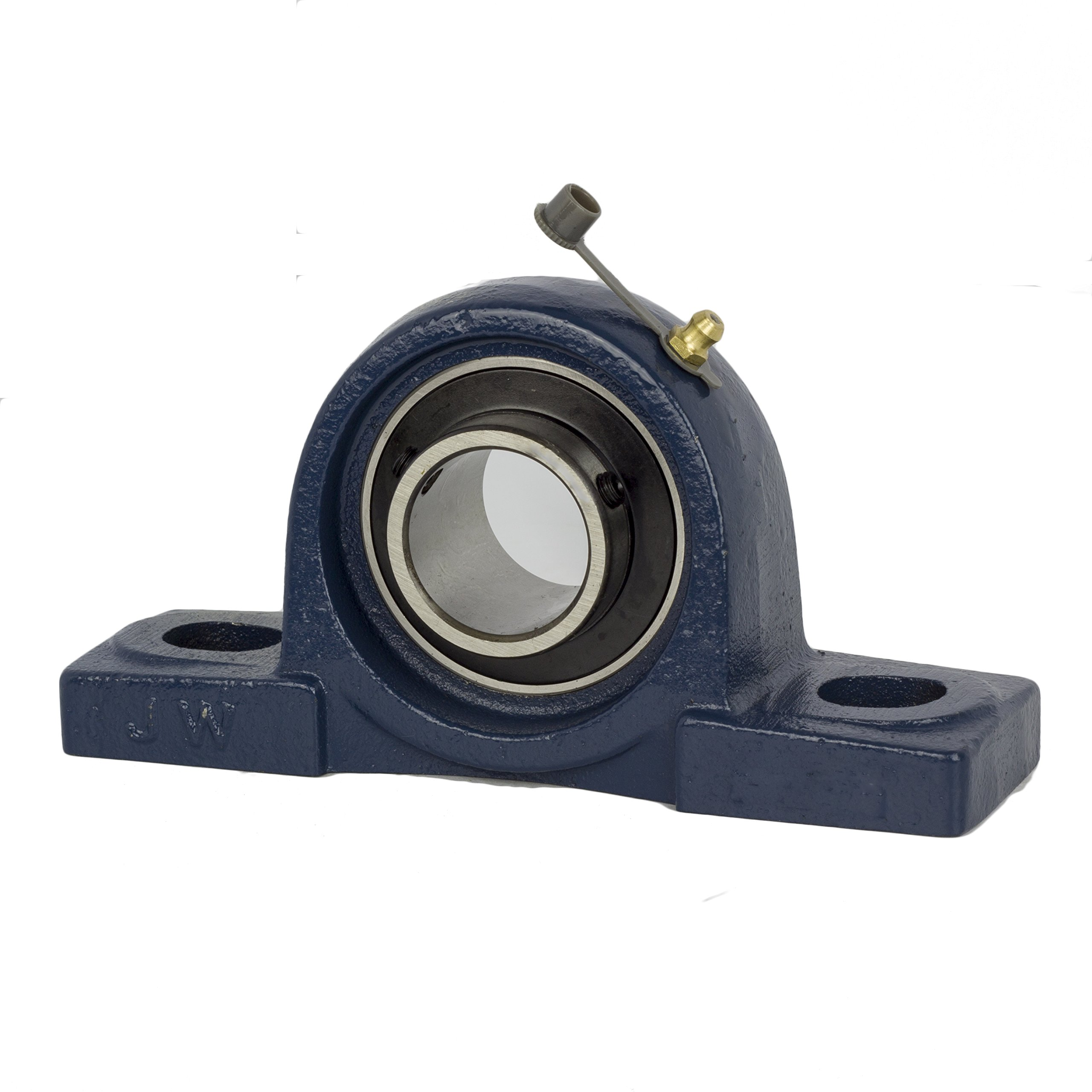 Jeremywell UCP205-16 Pillow Block Bearing Solid Base, 1'', Self-Alignment, 1.5'' Width, 2.736'' Length, Cast Iron/Chromium Steel (Pack of 4)