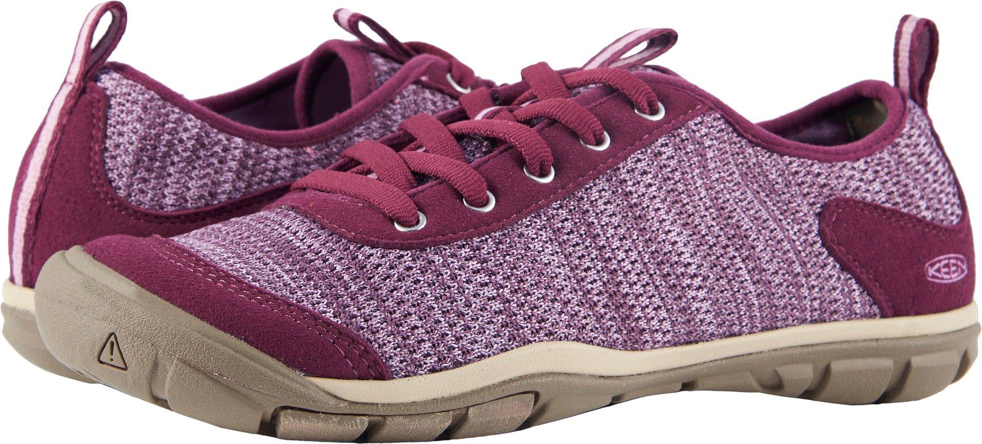 KEEN Women's Hush Knit-W Hiking Shoe, Grape Wine/Lavender Herb, 8.5 M US