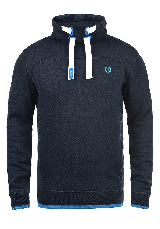!Solid Benjamin Herren Sweatshirt Pullover Tube-Neck Pulli Mit Stehkragen Und Fleece-Innenseite