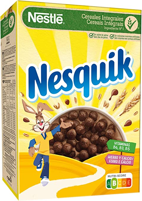 Cereales Nestlé Nesquik - 1 paquete de 375 g: Amazon.es ...