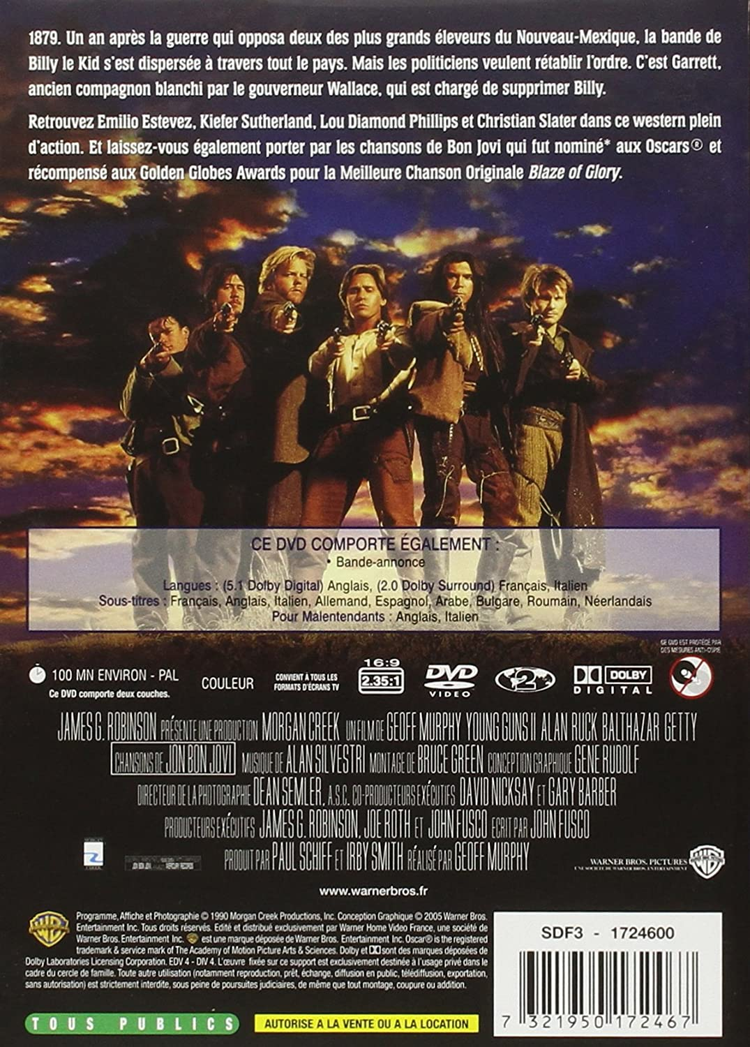 Young Guns 2 [Francia] [DVD]: Amazon.es: Emilio Estevez, Kiefer ...