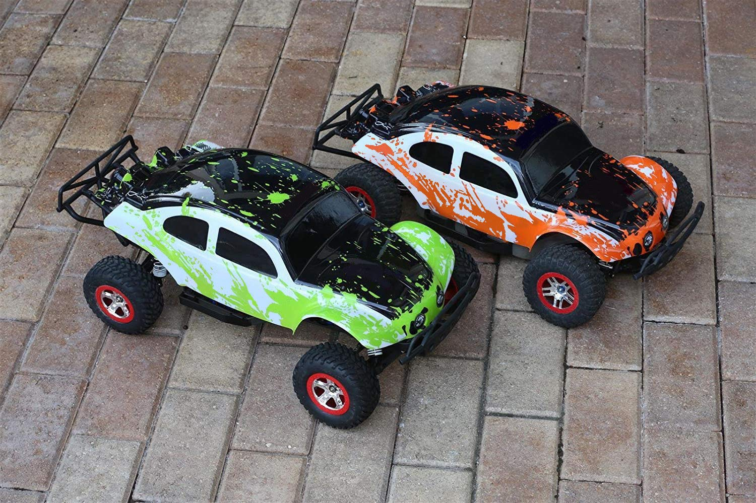 SummitLink 2pk Combo Set Compatible Custom Body Muddy Orange Over White/Black Green Over White/Black Replacement for 1/10 Scale RC Car or Truck (Truck not Included) SSB-WBRG-02