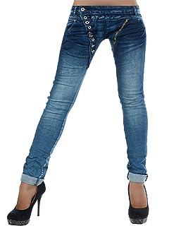 49c2cf4f5c38 Yidarton Jeans Damen Jeanshosen Röhrenjeans Skinny Slim Fit Stretch ...