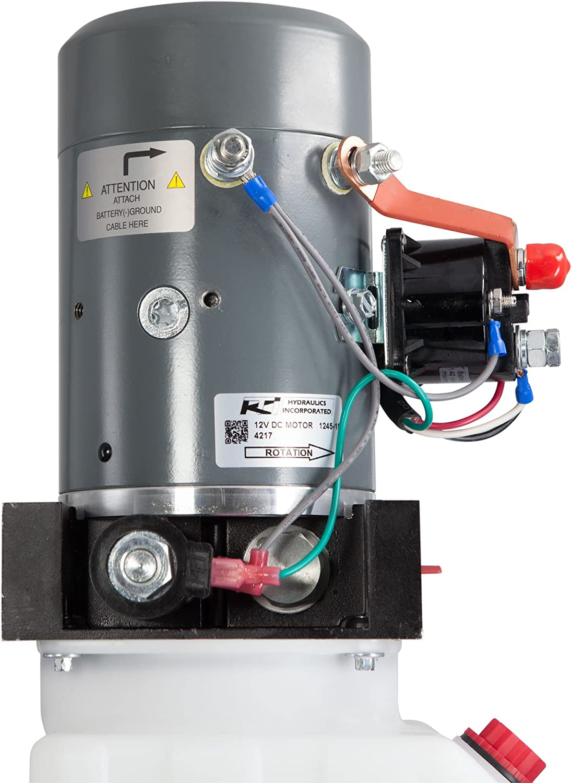 8 Quart KTI Single Acting 12V Hydraulic Pump
