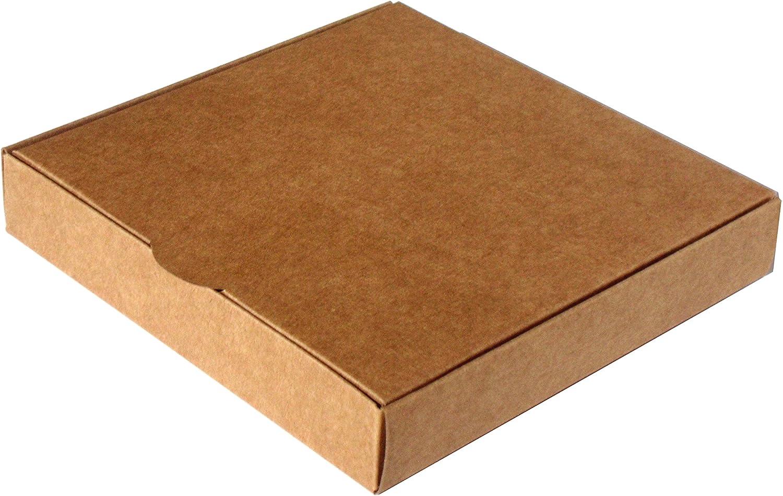 Caja para regalo automontable, set 25 unidades 14 x 14 x 2,5 (Kraft)