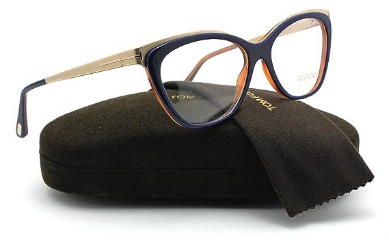 87e6a832e4ff Amazon.com  Tom Ford FT5374 Metal Cat Eye Women Eyeglasses (Shiny ...