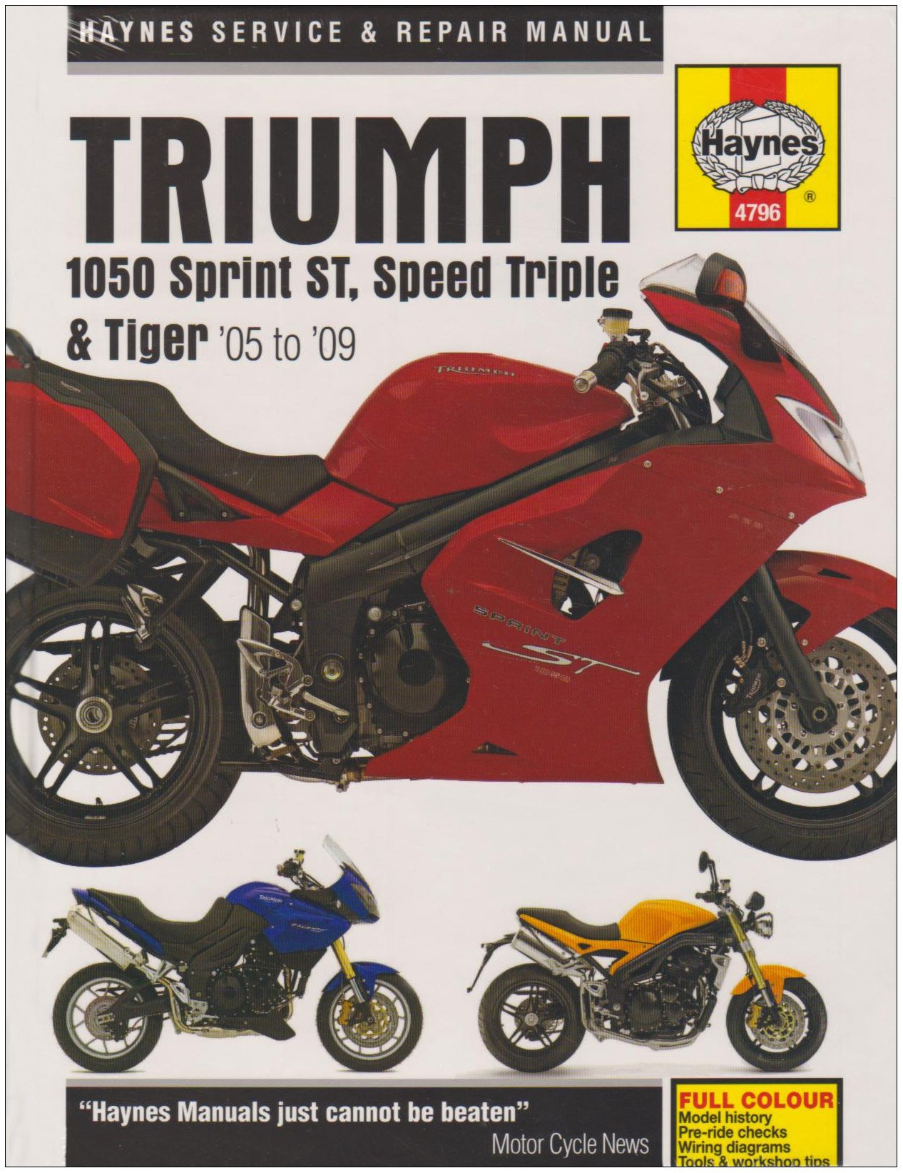 Triumph 1050 Service and Repair Manual: 2004 to 2009 (Haynes Service and Repair  Manuals): Matthew Coombs: 9781844257966: Amazon.com: Books