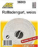 Schellenberg 36003 Rollladengurt 23 mm/6.0 m, weiß