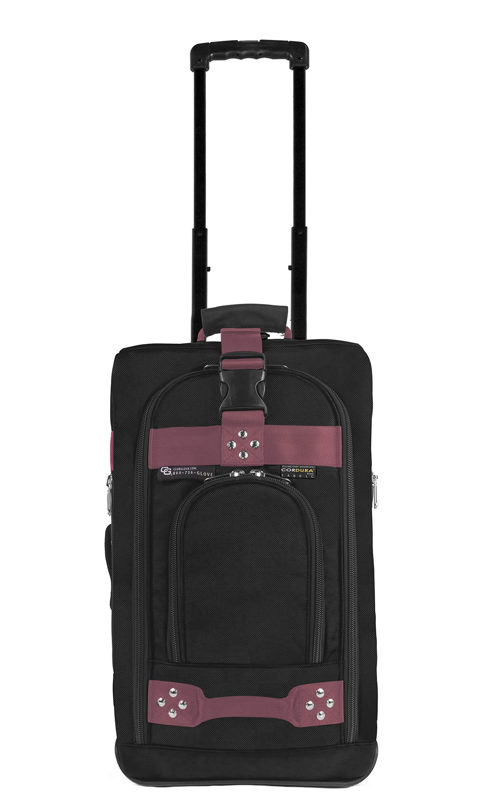 Club Glove Carry On Bag III Travel Luggage (Black/Pink)