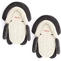 Diono Cuddle Soft 2-in-1 Head Support, Grey/Arctic (2-Pack)