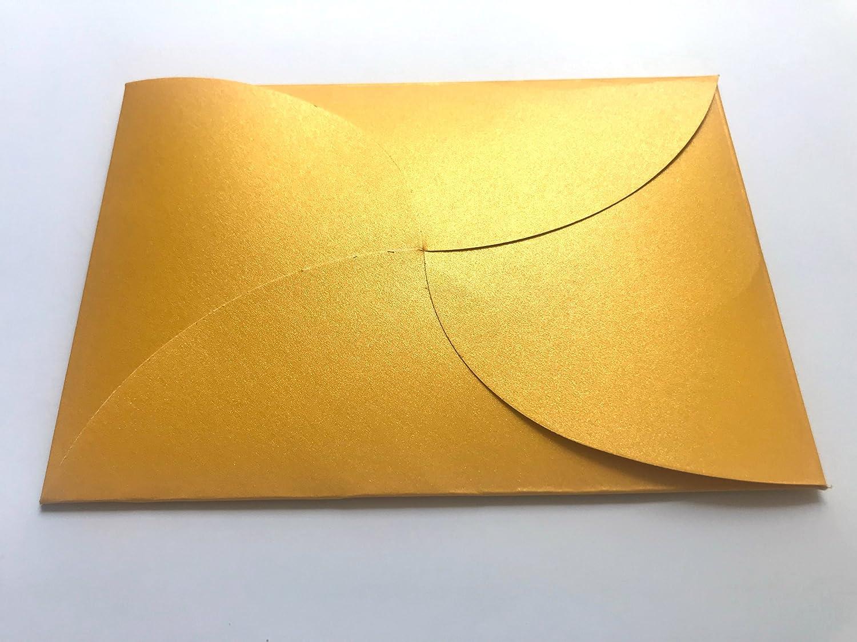 20 buste in cartoncino perlato di colore giallo 162 x 114 mm formato C6 compleanno nozze doro per inviti di matrimonio