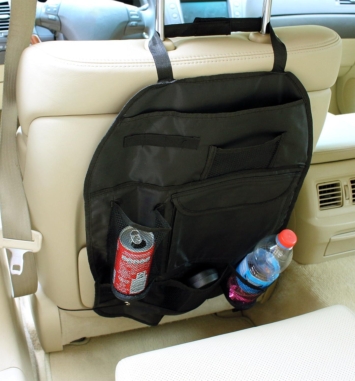 ... Respaldo auto Bolsa Utensilios Bolsa para asiento trasero con estante para Auto asiento red Cintas Funda & Portavasos Incluye sujeción Niños Organizador ...