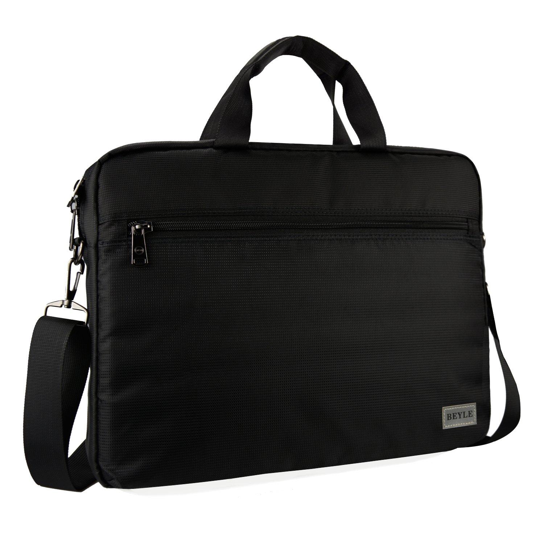 15.6 inch Laptop Bag, Beyle Business Laptop Case, Briefcase Messenger Shoulder Bag for Men Women, College Students Office Workers Professional Computer, Notebook, Table, MacBook Bag, Black