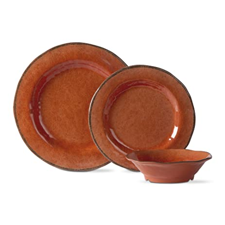 tag - Lanai Melamine Set Of 12 Durable u0026 Stylish Dining Ware Orange  sc 1 st  Amazon.com & Amazon.com | tag - Lanai Melamine Set Of 12 Durable u0026 Stylish ...