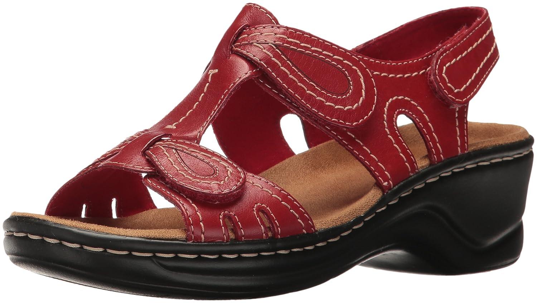 CLARKS Women's Lexi Walnut Q Platform B01IAEZY76 9.5 D-Wide|Red