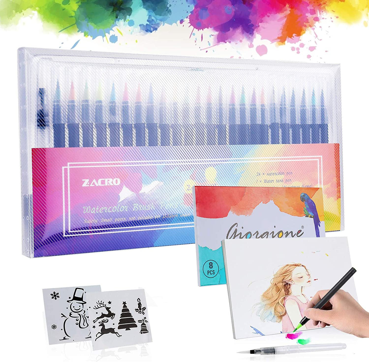 Zacro 24 Colors Watercolour Brush Pen Set – Only £7.69!