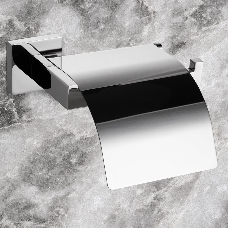 Interdesign Bathroom Accessories - Interdesign swivel wall mount paper towel holder contemporary stainless steel wall mounted bathroom