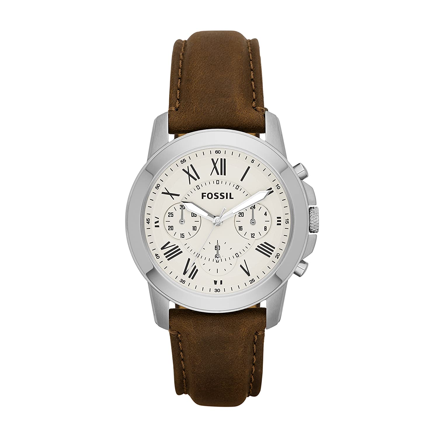 Préférence Amazon.com: Fossil Men's FS5118 Stainless Steel Watch with Brown  CS43