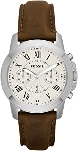 Fossil Grant Men's Dial Leather Band Watch - FS4813