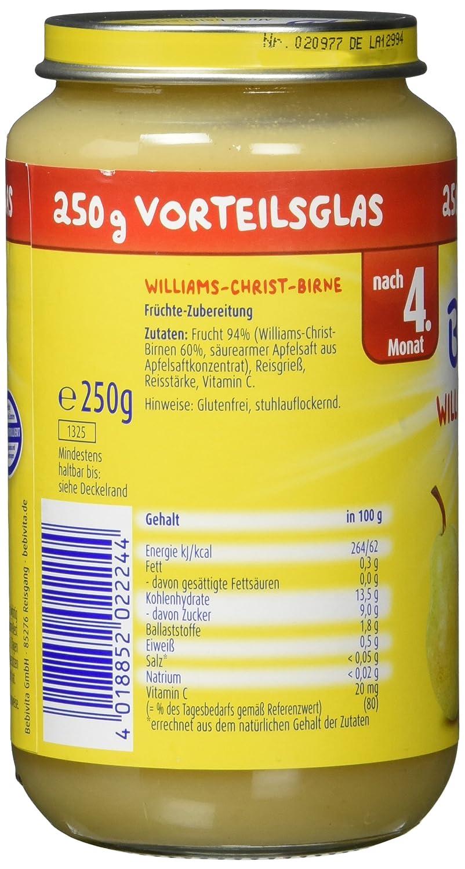 Bebivita Früchte Williams-Christ-Birne, 250 g: Amazon.de: Amazon Pantry